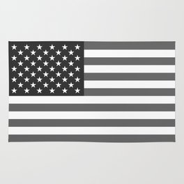 American flag in Gray scale Rug