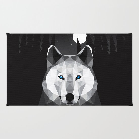 The Tundra Wolf Rug