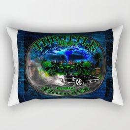 Throttle Head- Rollin' Thunder Rectangular Pillow