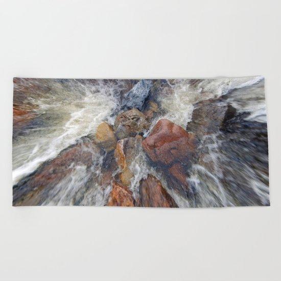 Rocks and Water Beach Towel