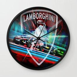Lamborghini Blancpain Super Trofeo #1 Wall Clock