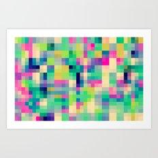 Pixeland Art Print
