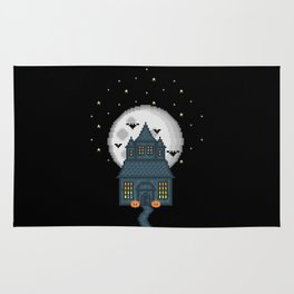 Haunted House (Pixel Art) Rug