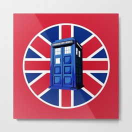 Tardis British Metal Print
