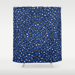 meta (blue) Shower Curtain