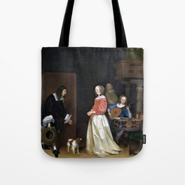 Gerard ter Borch the Younger The Suitor's Visit Tote Bag