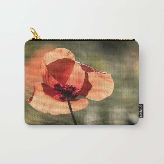 Enlightened Poppies at early backlight Carry-All Pouch