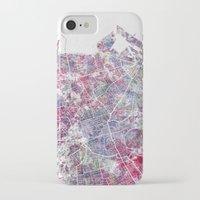 edinburgh iPhone & iPod Cases featuring Edinburgh Map by MapMapMaps.Watercolors