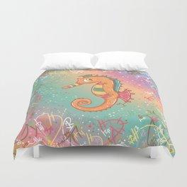 Sparkly Little Seahorse Duvet Cover