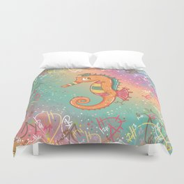 Sparkly Little Seahorse Duvet Cover