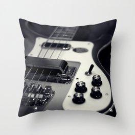 Rickenbacker Bass [B&W] Throw Pillow