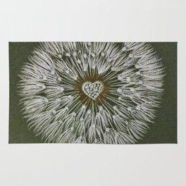 Dandelion heart Rug