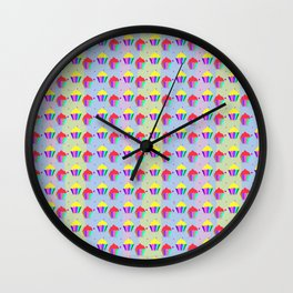 Colorful Cupcakes Pattern Wall Clock