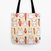 johannathemad Tote Bags featuring bunnys by JohannaTheMad