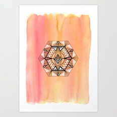 Geometric Hexagon 2 Art Print