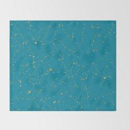 Northern Celestial Hemisphere Throw Blanket