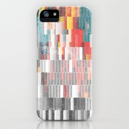 Vibrant Graffity on Black and White Geometry iPhone Case
