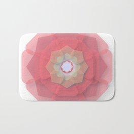 Pink Floral Meditation Bath Mat