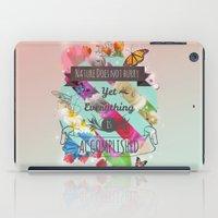 shih tzu iPad Cases featuring Nature Lao Tzu quote by James Thornton