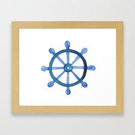 Navigating the seas Framed Art Print
