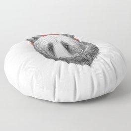 bearded bear Floor Pillow
