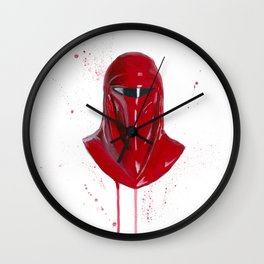 Red Imperial Guard Wall Clock