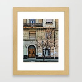 Puzzled Boxes Framed Art Print