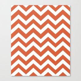 Medium vermilion - orange color - Zigzag Chevron Pattern Canvas Print