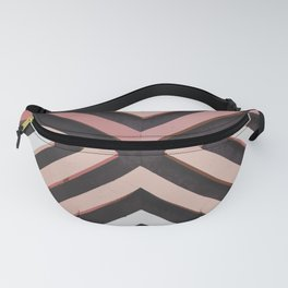 Abstract Art 20 27 Graphic fine art Ornament squares mixed brown red random Geometry pattern-01 Fanny Pack