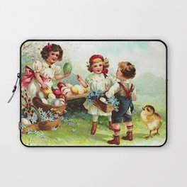 Vintage Easter Party Laptop Sleeve