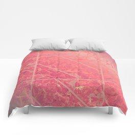 Pink Marble Texture G281 Comforters
