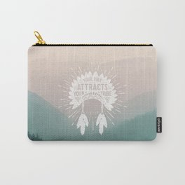 Your Vibe Attracts Your Tribe - Smoky Mountains Carry-All Pouch