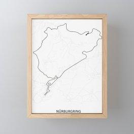 Nurburgring Framed Mini Art Print