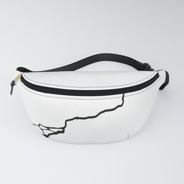 Diagonal Destroyed Light Fanny Pack