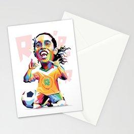Ronaldinho Carricature WPAP Stationery Cards