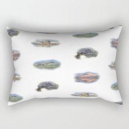 Highland Landmarks, Scotland. Rectangular Pillow