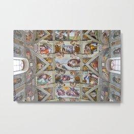 "Michelangelo Buonarroti ""Sistine Chapel ceiling"" Metal Print"