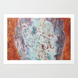 Background with red and blue Art Print