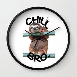 Chill Bro Wall Clock