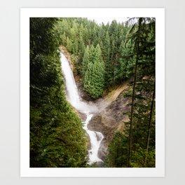 PNW Waterfall Art Print