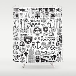 Providence Rhode Island Print Shower Curtain