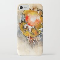 sun and moon iPhone & iPod Cases featuring Sun & Moon by Rubis Firenos