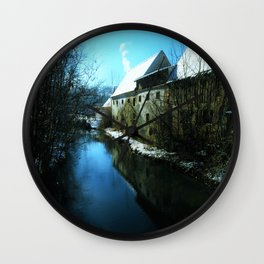 old mill in winter Wall Clock