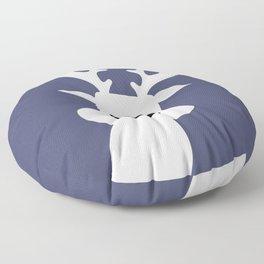 Reindeer on blue background Floor Pillow