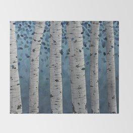 Birch Trees Throw Blanket