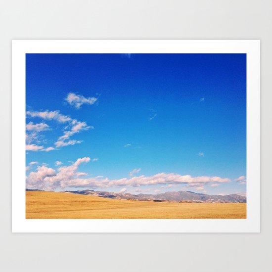 Golden CA Landscape Art Print