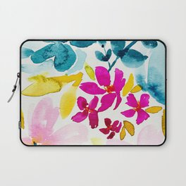 Blue Bloom Laptop Sleeve