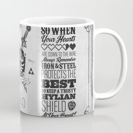Legend of Zelda Hylian Shield Foundry logo Iconic Geek Line Artly Coffee Mug