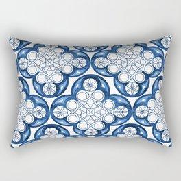 Indigo Blue Moroccan Tile Glam #2 #pattern #decor #art #society6 Rectangular Pillow