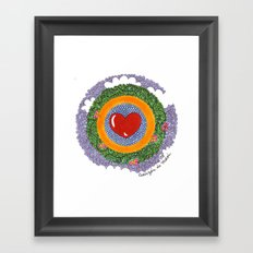 Corazon de Melon Framed Art Print